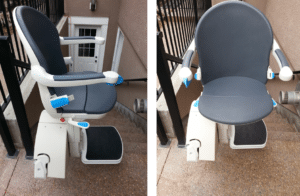 Front and Side View Exterior Stairlift