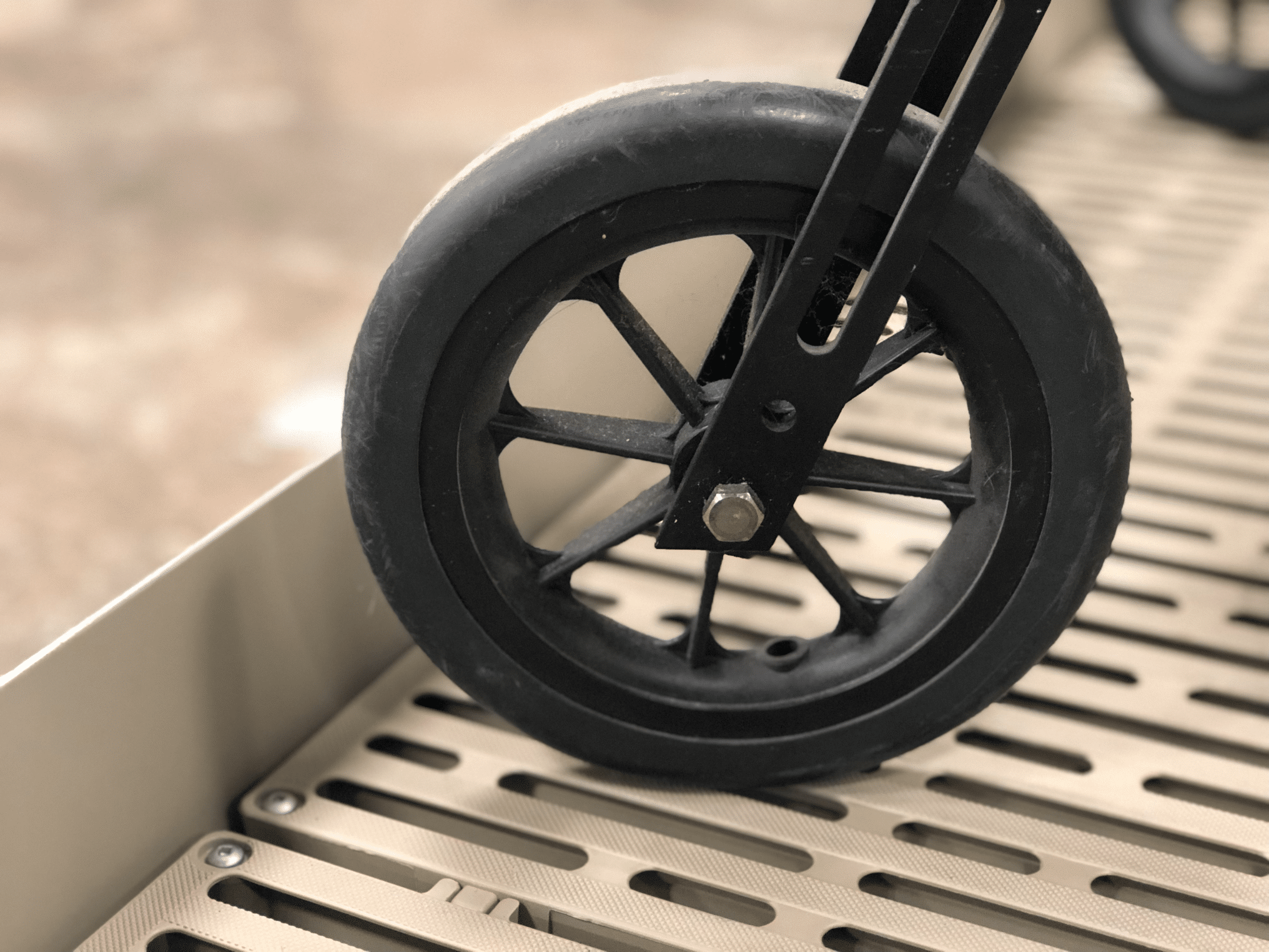 Knee Scooter on the ThruFlow™ non-slip surface