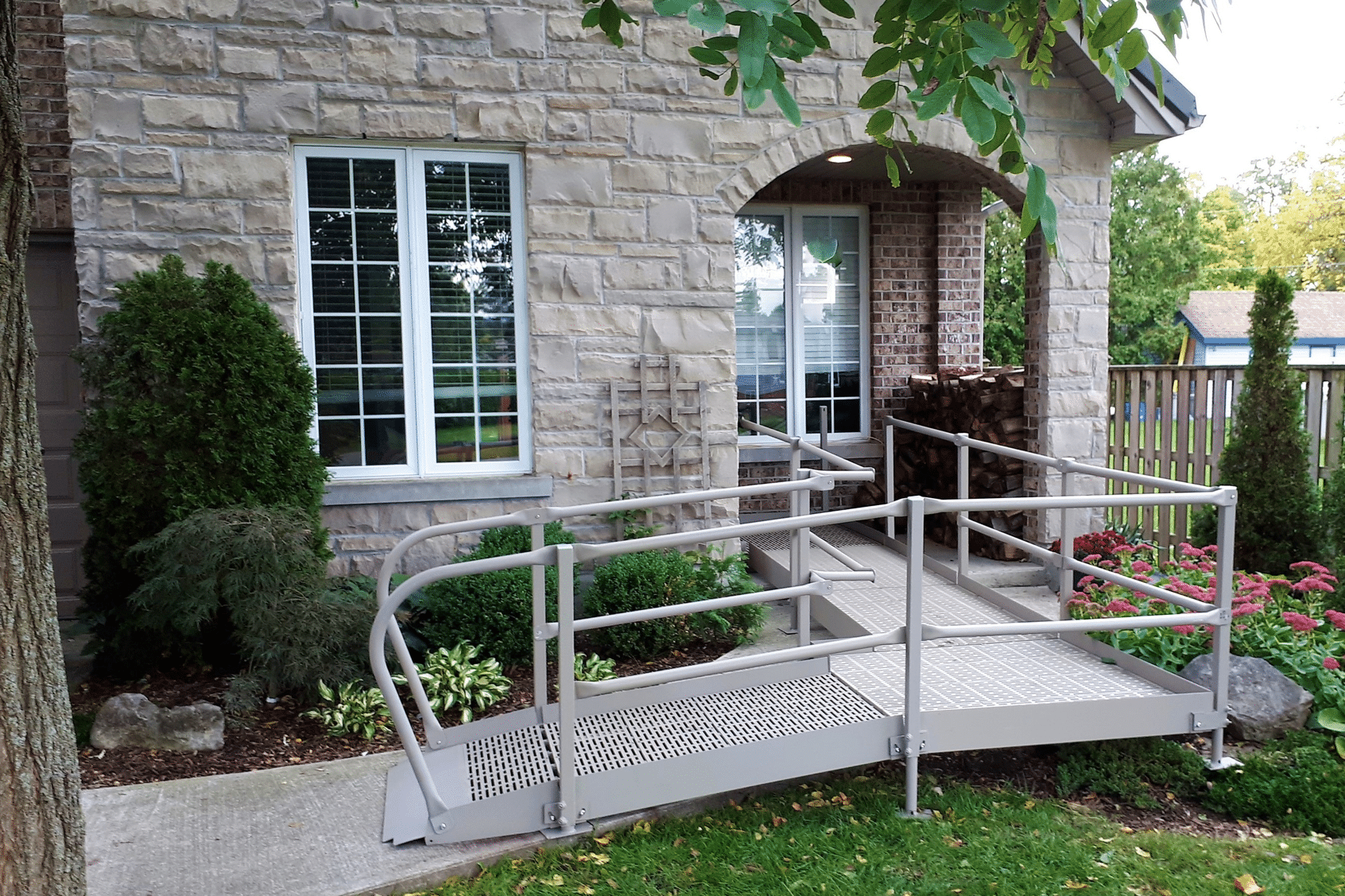 Wheelchair Ramp Calgary - QRamp™ Summer Easy Installation