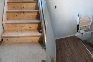 Step Down Landing Custom Installation